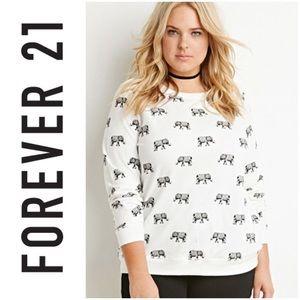 EUC Forever 21 Elephant Sweatshirt